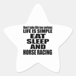 EAT SLEEP HORSE RACING STAR STICKER