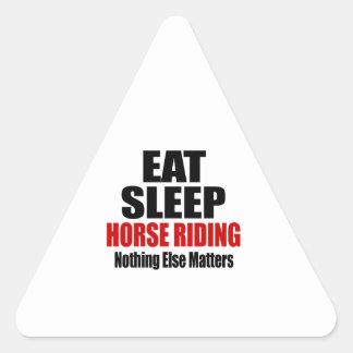 EAT SLEEP HORSE RIDING TRIANGLE STICKER