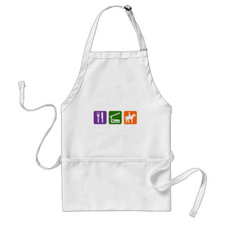 Eat Sleep Horseback Riding Adult Apron