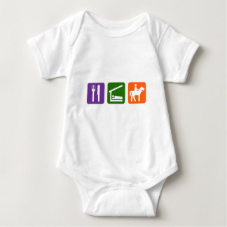 Eat Sleep Horseback Riding Baby Bodysuit