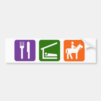 Eat Sleep Horseback Riding Bumper Sticker