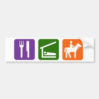 Eat Sleep Horseback Riding Car Bumper Sticker