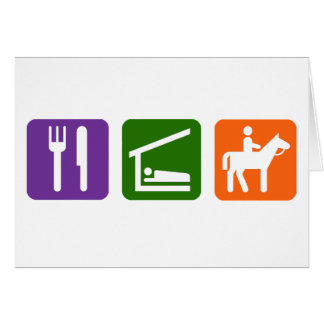 Eat Sleep Horseback Riding Card