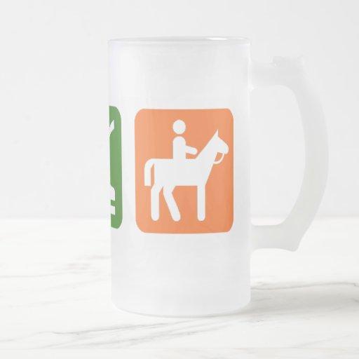 Eat Sleep Horseback Riding Coffee Mug