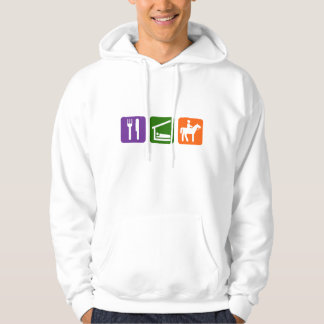 Eat Sleep Horseback Riding Hoodie