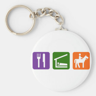 Eat Sleep Horseback Riding Keychain