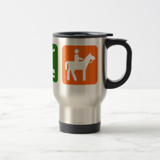 Eat Sleep Horseback Riding Travel Mug
