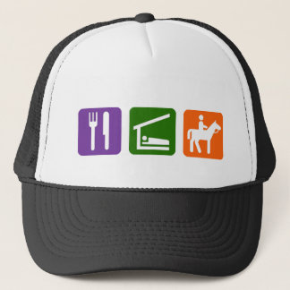 Eat Sleep Horseback Riding Trucker Hat