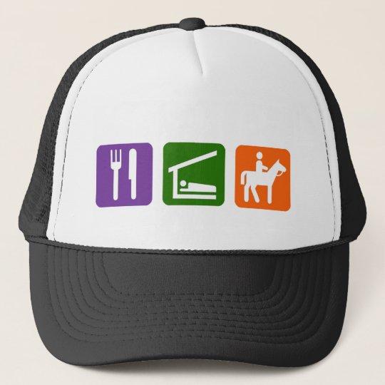 Eat Sleep Horseback Riding Trucker Hat