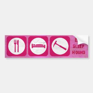 eat sleep hound pink bumper sticker