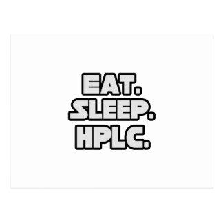 Eat Sleep HPLC Post Cards