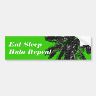 Eat.Sleep.Hula.Repeat Bumper Sticker