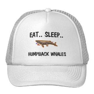 Eat Sleep HUMPBACK WHALES Mesh Hats