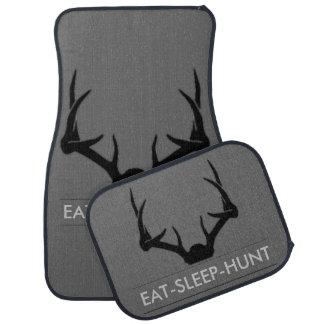 Eat Sleep Hunt Car Mat