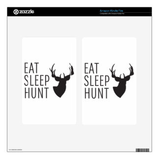Eat Sleep Hunt Kindle Fire Skin