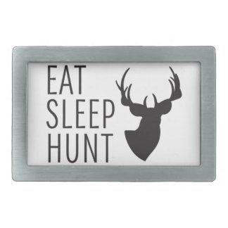 Eat Sleep Hunt Rectangular Belt Buckle