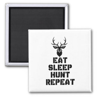 Eat Sleep Hunt Repeat Magnet