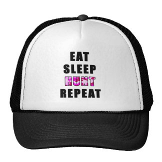 EAT SLEEP HUNT REPEAT TRUCKER HATS