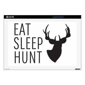 """Eat Sleep Hunt Skin For 17"""" Laptop"""