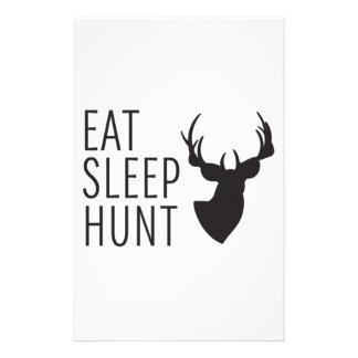 Eat Sleep Hunt Stationery