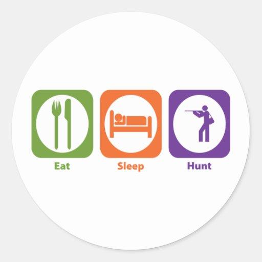 Eat Sleep Hunt Sticker