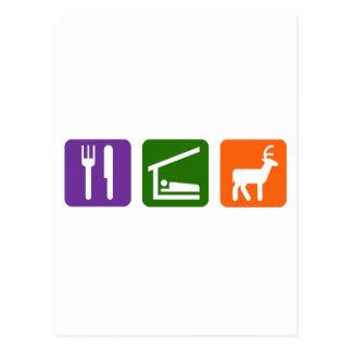 Eat Sleep Hunting Postcard