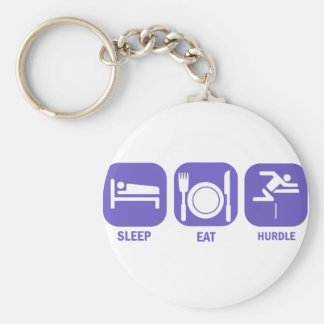 eat sleep hurdle keychain