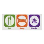 Eat Sleep Hurdle Poster