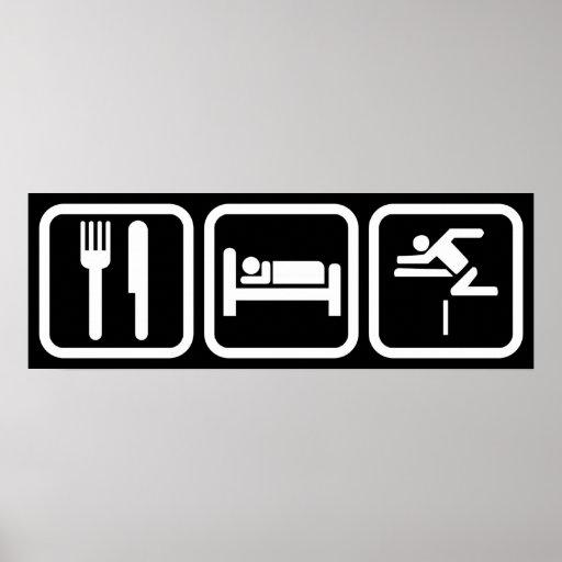 Eat Sleep Hurdles Poster