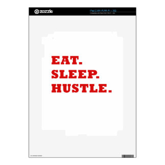 Eat Sleep Hustle Decals For iPad 2