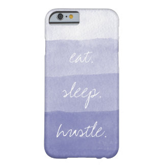 Eat Sleep Hustle | Purple Watercolor Ombre Stripe Barely There iPhone 6 Case