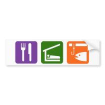 Eat Sleep Ice Fishing Bumper Sticker