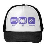 eat sleep ice hockey trucker hat