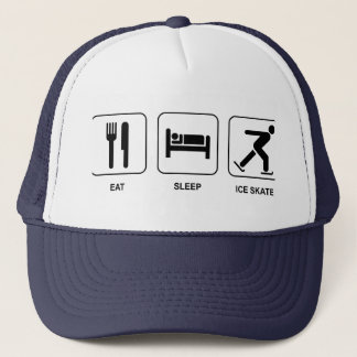 Eat Sleep Ice Skate Trucker Hat