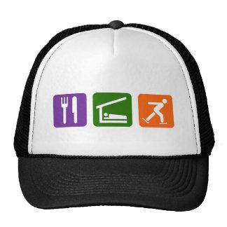 Eat Sleep Ice Skating Trucker Hat