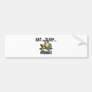 Eat Sleep IGUANAS Bumper Sticker