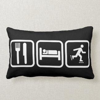 Eat Sleep Inline Skating Pillow