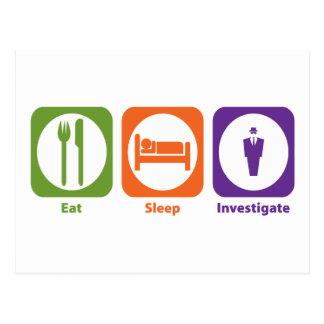 Eat Sleep Investigate Postcards