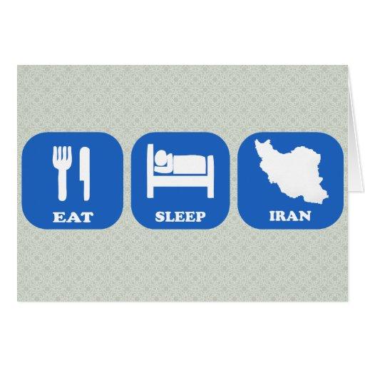 Eat Sleep Iran Cards