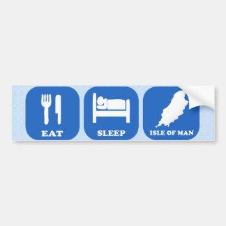 Eat Sleep Isle Of Man Bumper Sticker