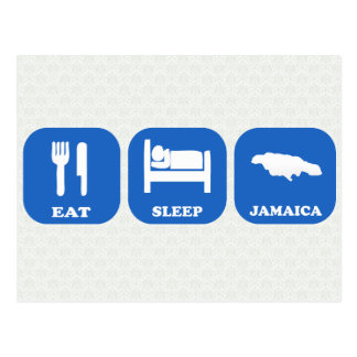 Eat Sleep Jamaica Postcard