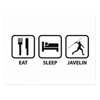 Eat Sleep Javelin Postcard
