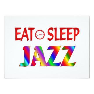 Eat Sleep Jazz Custom Invitations