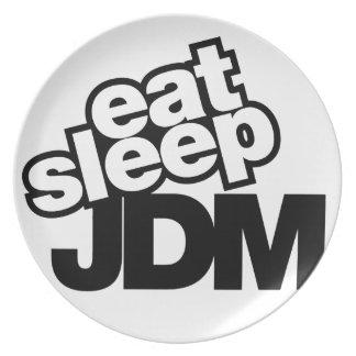 eat sleep JDM Dinner Plate