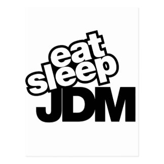 eat sleep JDM Postcard