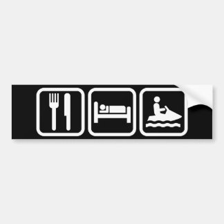 Eat Sleep Jet Ski Bumper Sticker