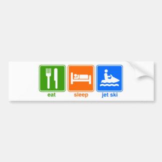 Eat Sleep Jet Ski Bumper Stickers
