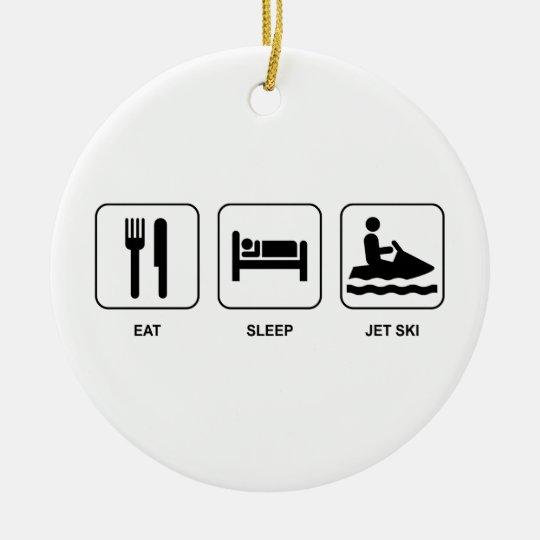 Eat Sleep Jet Ski Ceramic Ornament