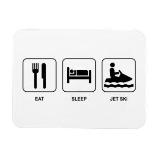 Eat Sleep Jet Ski Rectangular Photo Magnet