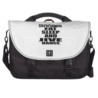 EAT SLEEP JIVE BAGS FOR LAPTOP